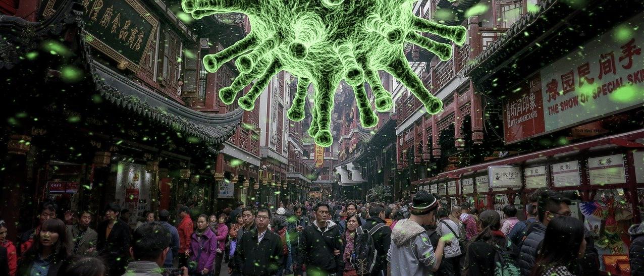 coronavirus ciudad multitud