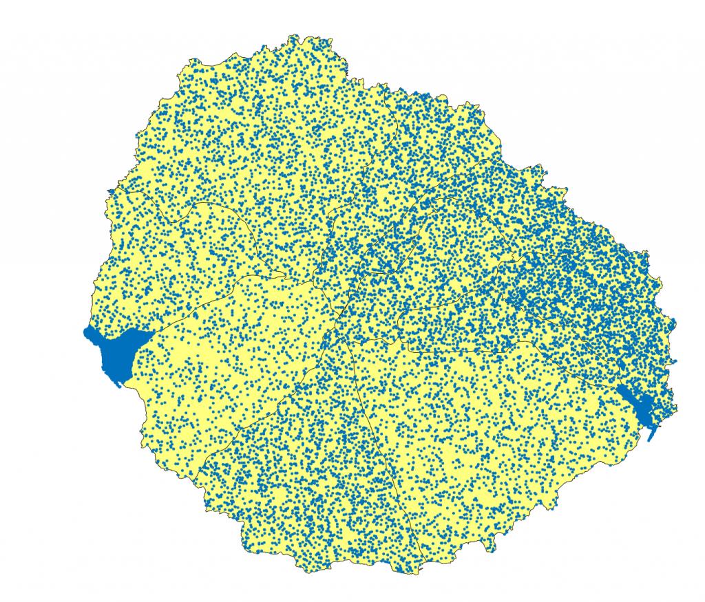 densidad población la gomera
